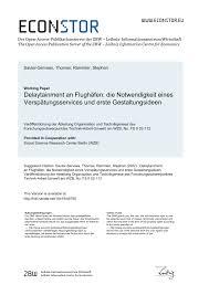 PDF Delaytainment an Flughäfen Notwendigkeit eines