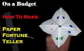 on a budget make paper fortune teller quack quack