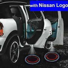 nissan logo 2 x gen car door shadow laser projector logo led light for nissan