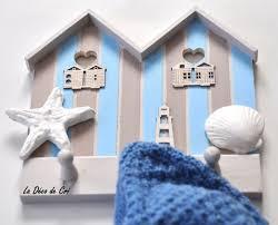 cabine de plage bois porte manteau en bois 3 têtes cabine de plage chambre d u0027enfant
