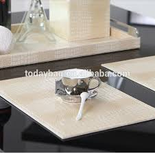 Leather Placemats For Conference Table White Faux Leather Placemats White Faux Leather Placemats