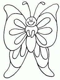 printable butterfly coloring pages for kids preschool