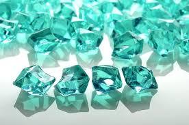 Vase Stones Teal Green Gemstones Acrylic Crystal Wedding Table Scatter