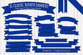 royal blue ribbon royal blue ribbon banner clipart illustrations creative market