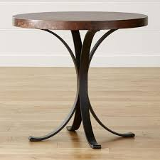 pottery barn bistro table top round iron bistro table