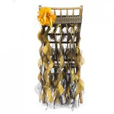 curly willow chair sash willow chair sash black gold