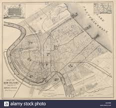 Map Of New Orleans La by Map Of New Orleans By Armand Hawkins Stock Photo Royalty Free