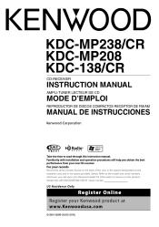 kenwood kdc 138 radio cd player manual