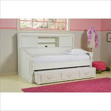 olivia day bed with bookcase back panel in white by legacy classic