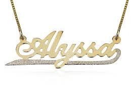 plated name necklace name necklace w sparkling lower line jewelry persjewel