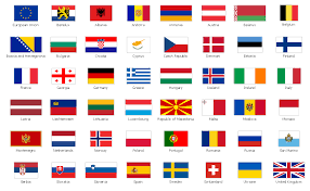 Flags Countries Geo Map Europe