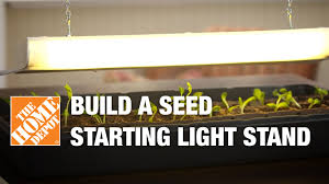 light stands home depot build a seed starting light stand the home depot gardenieres youtube
