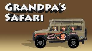 safari jeep cartoon grandpa u0027s safari spell gorilla giraffe lion tiger and
