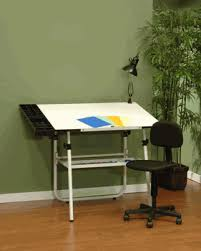 White Drafting Table with White Ultima Drafting Table 4 Piece Workstation By Studio Designs