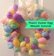 how to make an easter egg wreath pastic easter egg wreath tutorial