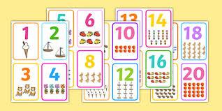 free printable number flashcards 1 20 number picture flashcards number cards count counting aid