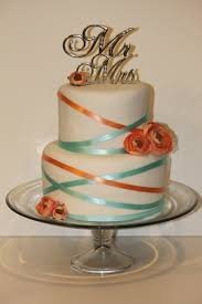 coral wedding cakes turquoise and coral fondant wedding cake s food