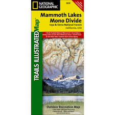 Mammoth Map 809 Mammoth Lakes Mono Divide Inyo And Sierra National Forests
