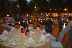 welcome dinner table kalos golf cruises
