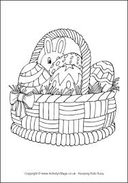 easter basket with eggs coloring page easter colouring pages