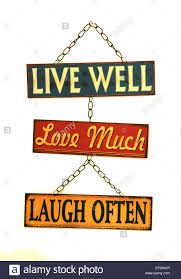 Live Laugh Love Signs Live Well Love Much Laugh Often Sign Cutout Stock Photo Royalty