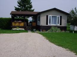 traditional mobile homes with grey color exterior panel also white