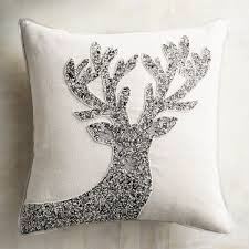 Peacock Pillow Pier One by Silver U0026 White Beaded Reindeer Pillow Pier 1 Index Pinterest