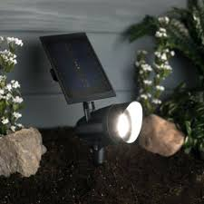 solar spot light reviews solar powered landscape lights led solar spot light black finish