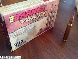 Barnes Vor Tx Armslist For Sale Barnes 30 06 Vor Tx Ammo