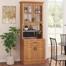 kitchen storage cabinets walmart living skog pantry kitchen storage cabinet mdf in cherry color assembled product height 71 length 26 wide 19