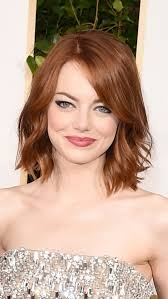 hair cuts with red colour 2015 we love emma stone s eyeliner with a cool feline flick see more