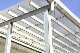 coperture tettoie in pvc realizzazioni in policarbonato alveolare tettoie coperture