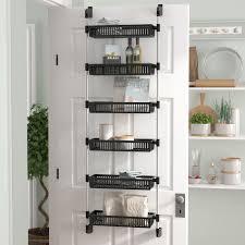 Cabinet Door Organizer Rebrilliant Overdoor 6 Shelf Cabinet Door Organizer Reviews