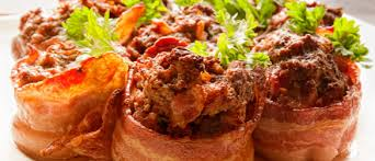 mini meatloaf cooking light bacon wrapped mini meatloaves paleo leap