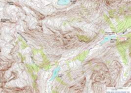 topographic map of the crater lake trail maroon bells snowmass