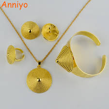 gold necklace set jewellery images Anniyo ethiopian gold jewelry set necklace earring ring bangle jpg