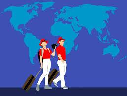 Free photo insurance world couple travel world map traveler max