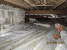 an encapsulated and insulated crawl space crawl space