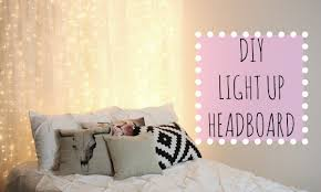 Headboard Wall Decor by Diy Light Up Headboard Affordable Room Decor Youtube