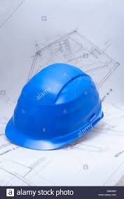 safety helmet top architects plans stock photo royalty free image
