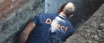 basement lowering direct waterproofing