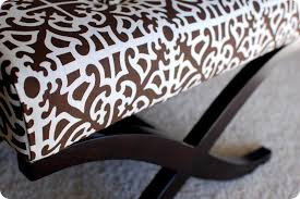 Recover Ottoman Remodelaholic No Sew Way To Recover An Ottoman