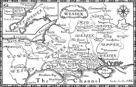 Wessex England Map by Wessex Map The Dorset Guide