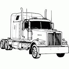 finest truck coloring pages kids semi trucks