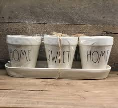 new rae dunn by magenta home sweet home 4 piece planter set new rae dunn by magenta home sweet home 4 piece planter set