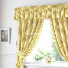 yellow kitchen curtains gingham ready made kitchen curtains in yellow
