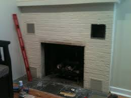 tile and wood over painted brick fireplace fireplace jpg