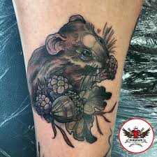 teeny mouse tattoo on the ankle from rachael rose tattoo created
