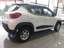 renault kwid red colour renault kwid customized looks stunning now available in goa