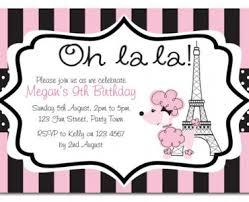 paris themed birthday invitation images invitation design ideas